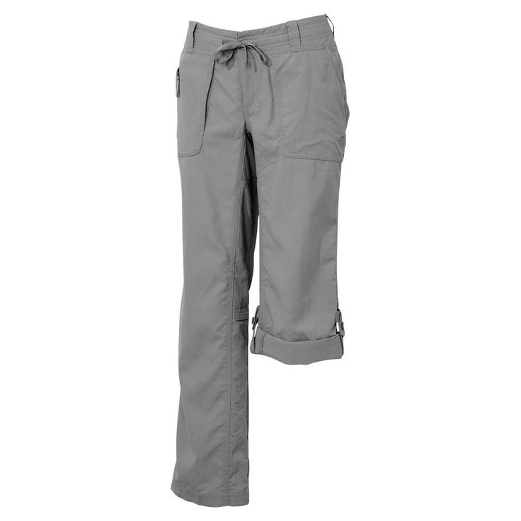 Creative THE North Face Boot CUT Khaki Womens Nylon Hiking Pants Size 6 Q8 746