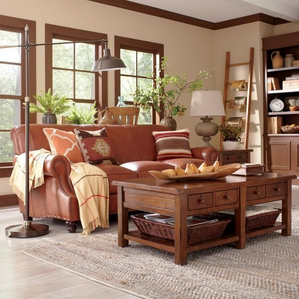 Natural Materials Like Leather, Wood And Jute Reflect The Inspired  Southwestern Style In This Cozy