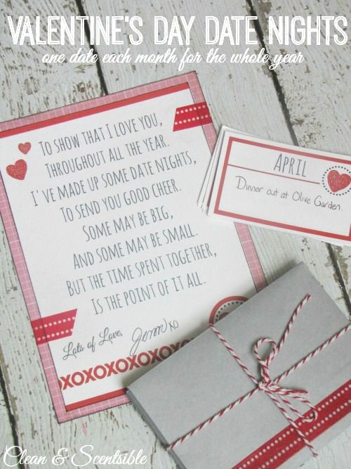 Looking for a creative Valentine's Day gift idea for your loved ones? These 12 months of date cards are the perfect way to show your love all year long!