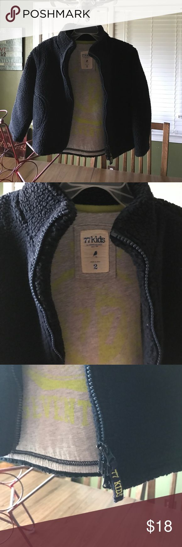 77 Kids zip-up jacket Very warm kids American Eagle jacket. Black outside and grey interior. Great condition! Bundle for a bigger discount! 77 Kids by American Eagle Jackets & Coats
