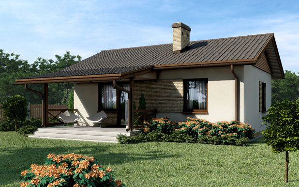 Wąska działka nie musi być problemem. Idealny domek dla małej rodziny. Zobaczcie projekt TJR-583.
