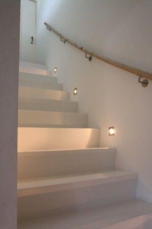 Inbouwspotjes naast trap