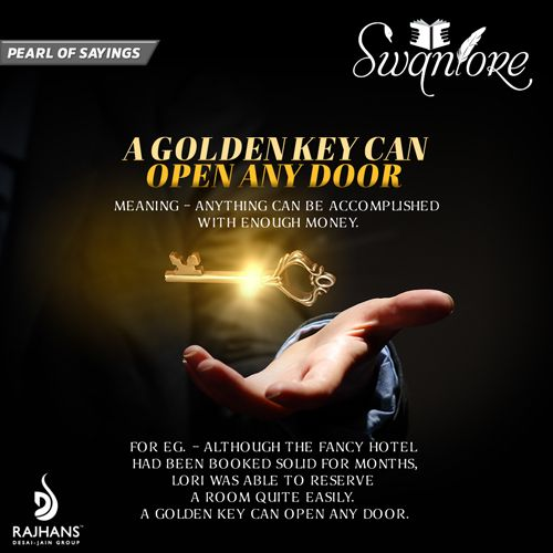 a golden key can open any door paragraph After all, a golden key can open any door after all, she was a latchkey kid when i heard about the burglary in my area, i couldn't sleep until the burglars were.