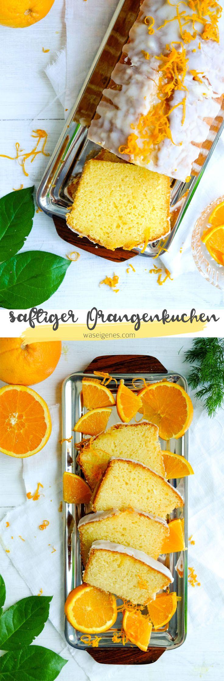 Saftiger & fluffiger Orangenkuchen
