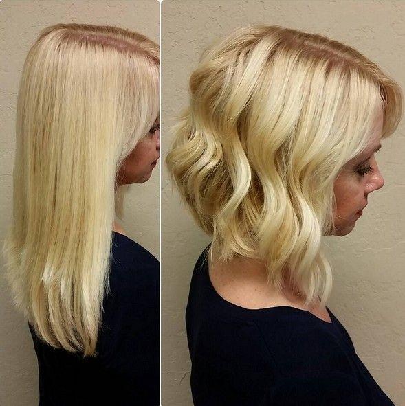 18 Hot Angled Bob Hairstyles: Shoulder Length Hair Short - Angled Bob Hairstyles