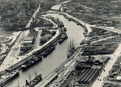 Yarra River from the air, 1925