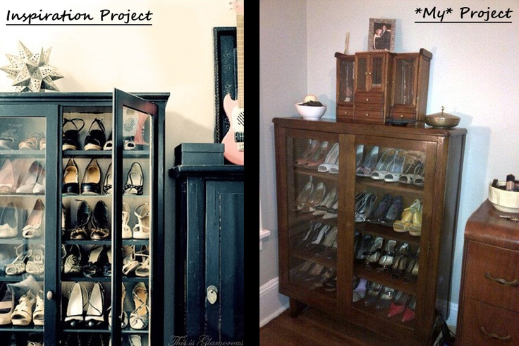 Shoe display cabinet, found on Craigslist.: Display Cabinets, Shoes Display, Houses Ideas, Custom Shoes, Apartment Ideas, Minor Shoes, Clever Ideas, Shoes Cabinets, Shoes Closet