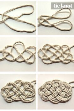 Des noeuds marins pour faire un tapis / DIY Nautical Rope Necklace to make a rug