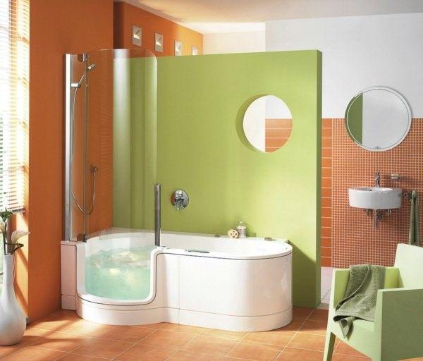Bath tub combination green color