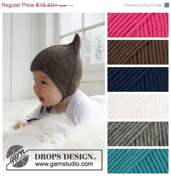 Sale Discount -15% off Baby ear flap hat-Hand Knitted hat for babies in merino wool-Baby bonnet,beanie with ear flaps in 25 COLORS-Photo pro on Etsy, £9.65