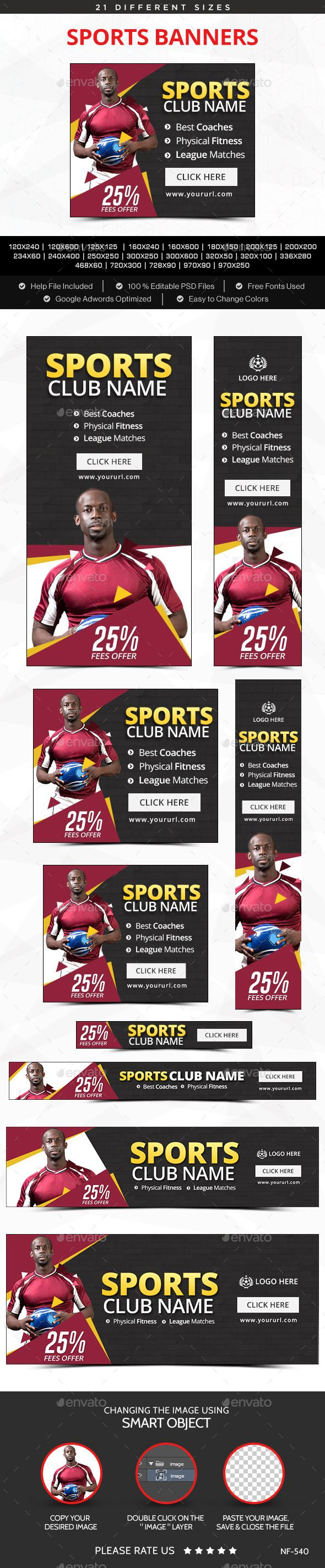 Sports Banners Template #design Download: http://graphicriver.net/item/sports-banners/12297875?ref=ksioks