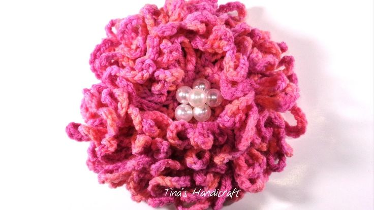 3D big crochet flower No 16