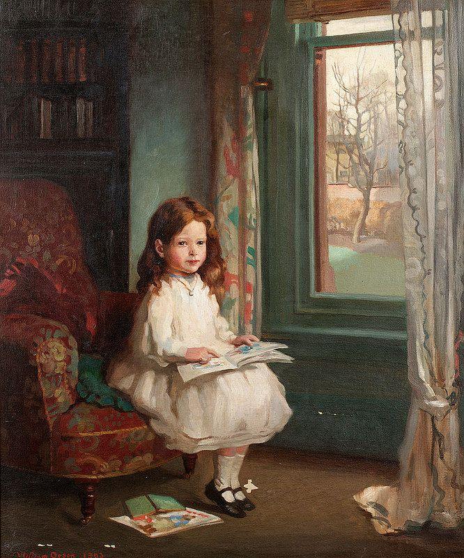 Sir William Orpen - Portrait of Clara Hughes by Irina