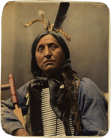 Left Hand Bear, Oglala Sioux chief i dont know his history but then you are divided did he hurt white people did he save red people, god has a hard job, i think he looks cool and they were just doing the best they could