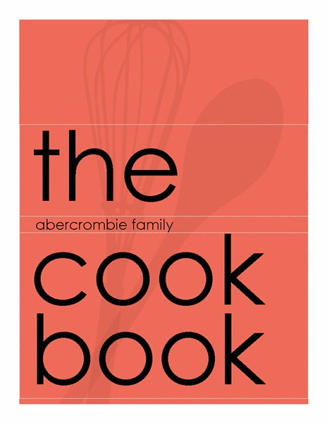 microsoft office cookbook template - cookbook in modern poppy red templates