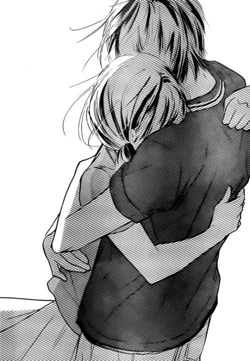 Sad Anime Girl Hugging Boy Iucn Water