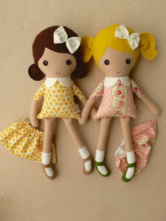 Reserved for China Fabric Dolls Rag Dolls Blond by rovingovine
