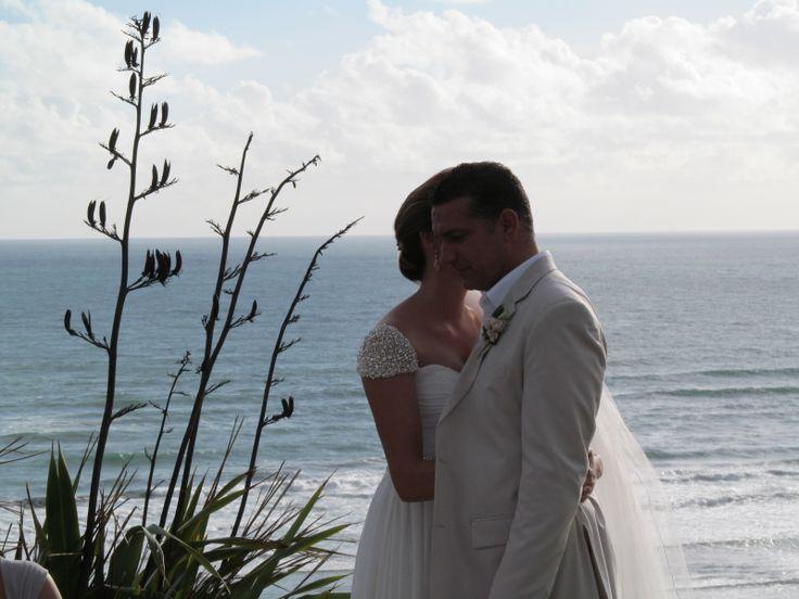 Danella Jade / Castaways / Reem Acra copy / Beige suit / love / beach wedding