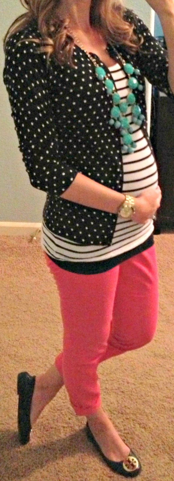 While I don't particularly like polka dots, I like the mixed patterns and love…