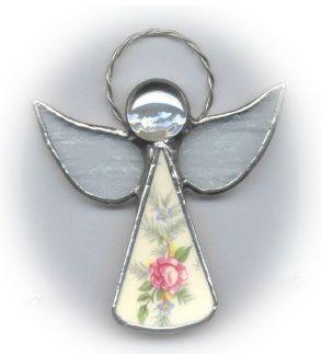 Broken to Beautiful China Angel Ornament Sample 1