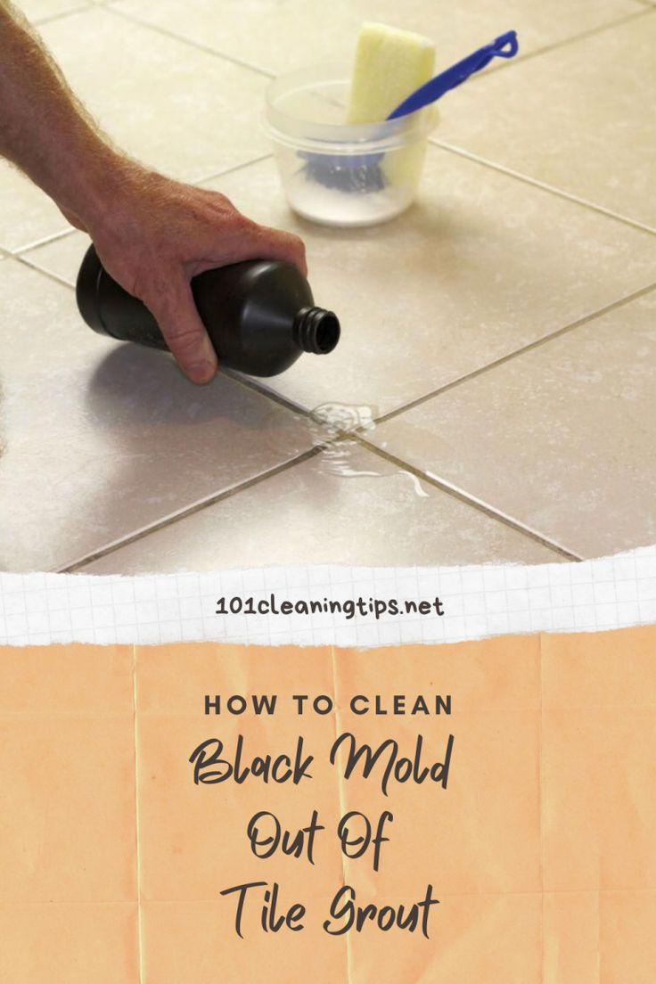 How To Clean Black Mold Out Of Tile Grout in 2020 Clean