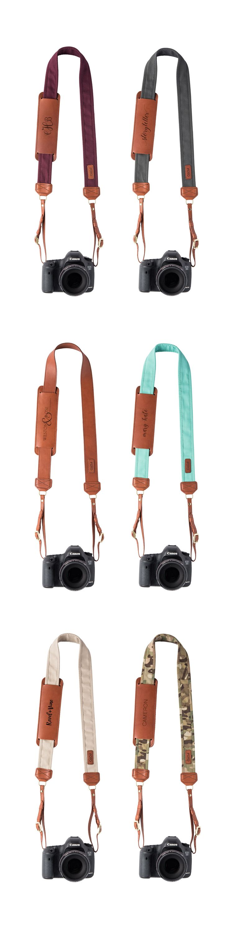 Fotostrap Collection - Genuine Leather, USA Made, Personalize with Monogram or logo