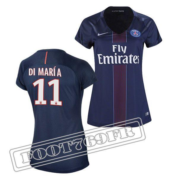 Promo Maillot Du Di Maria 11 PSG Femme Bleu Marine 16/17 Domicile : Ligue 1