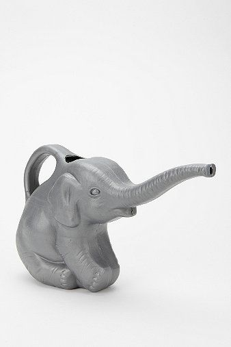 Elephant Watering Can... So cute! Maybe I would remember to water the plants if I had this:)