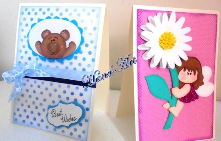 Handmade cards for any occasion, special gifts. Flower fairy and cute bear handmade cards.