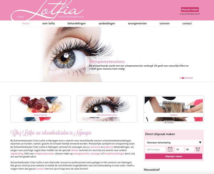 (Responsive) Website ontwerp & realisatie voor Schoonheidssalon Chez Lotfia uit #Nijmegen #3AMI #Webdesign #Responsive