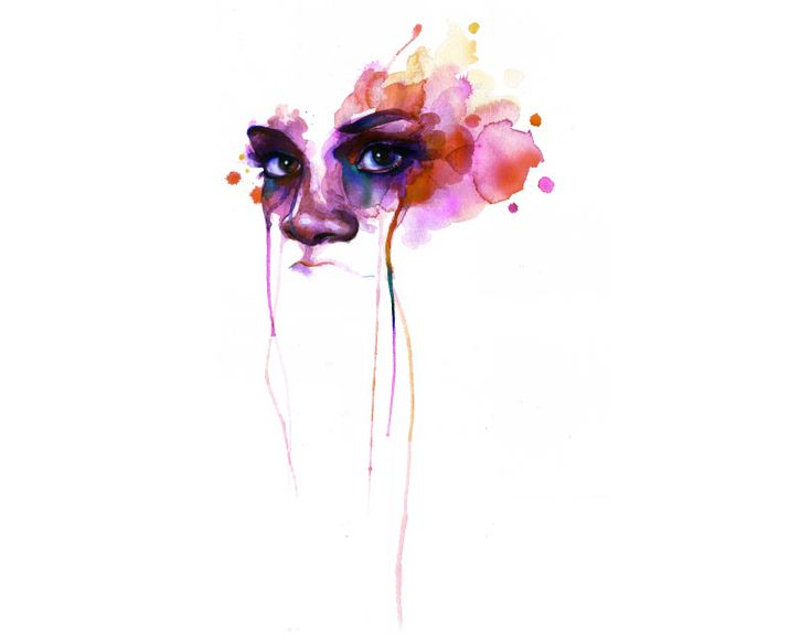 """Marion Bolognesi's Watercolors    (used as a poster for the film """"For Colored Girls"""")"""