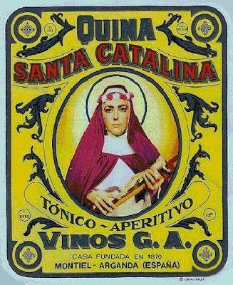 Quina Santa Catalina - Tónico aperitivo - Vinos G.A. Montiel, Arganda, España  #vintage #poster