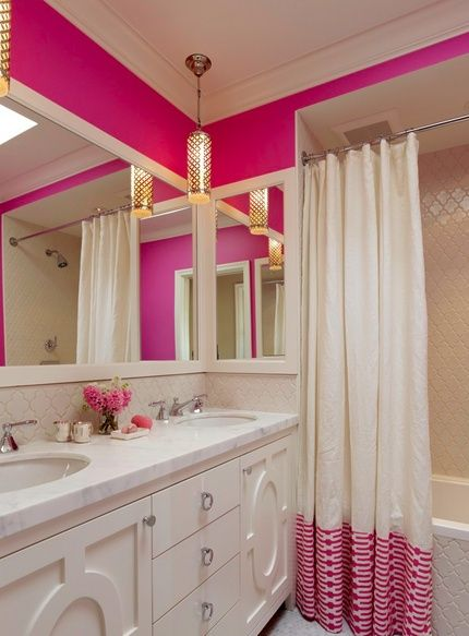 The only reason I would ever want to live by myself is so that I could paint my bathroom and bedroom hot pink!