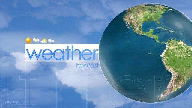 Weather Opener for Kurdsat 1 News. Software: Vizartist, Photoshop.