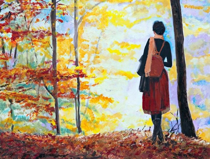 Lady in the Forest Art from $59.99 | www.wallartprints.com.au #LivingRoomArt