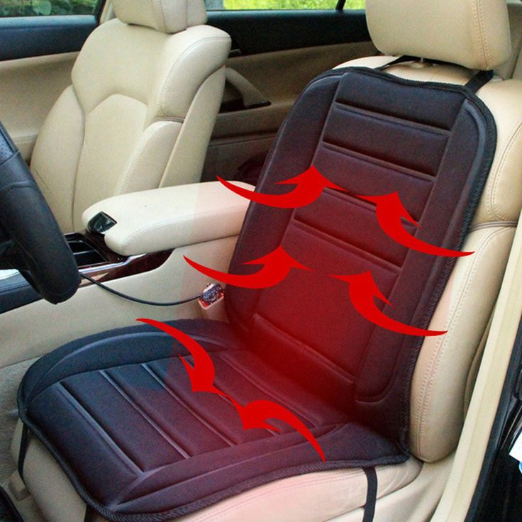 Winter Warm Car Seat Cushion Cover 12V DC Electric Heated Car Seat Covers Pad Color Black 97x47x1cm