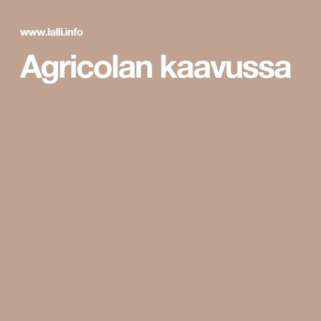 Agricolan kaavussa