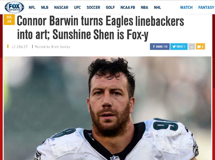 """Philadelphia linebacker Connor Barwin has turned the Eagles linebackers into a group of noblemen thanks to """"internationally renown art dealer"""" Nobilified, which """"welcomes the masses to the 1%."""""""