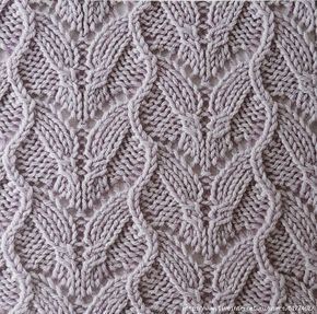 Interesting waves lace stitch. More great patterns like this: Cabled Lace Alternating Cables and Lace Checkered Cable and Lace Knitting Stitch Argyle lace and cable stitch
