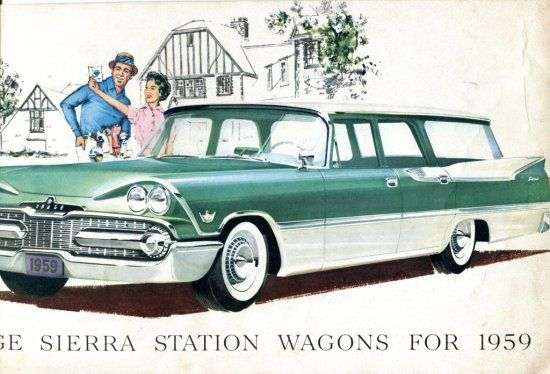 "1959 DODGE SIERRA Car Sales Brochure, good condition, sized 14"" x 8"", 5 pages."