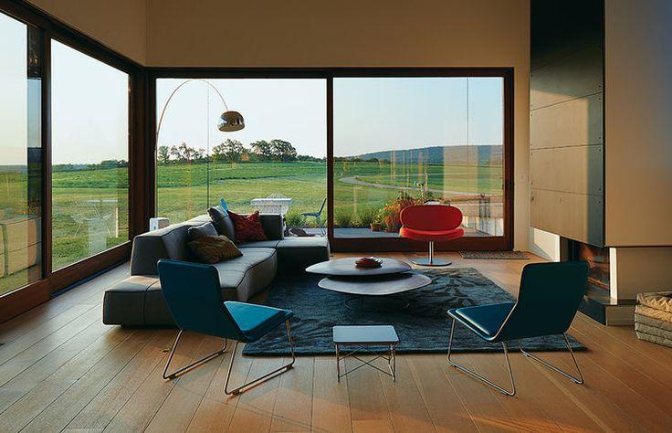El Topo living room with Flos lamp and BB Italia sofa.