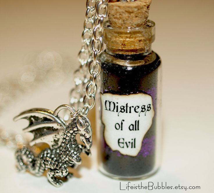 Mistress of All Evil Maleficent Magical Necklace with a Dragon Charm Disney Villain Jewelry  Life is the Bubbles.