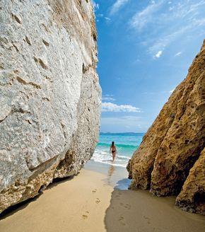 Marmara beach in Kassos island, Greece