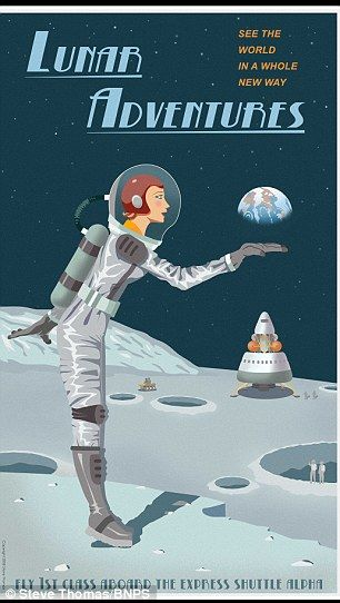 Travel Posters Depict Holidays Around The Solar System