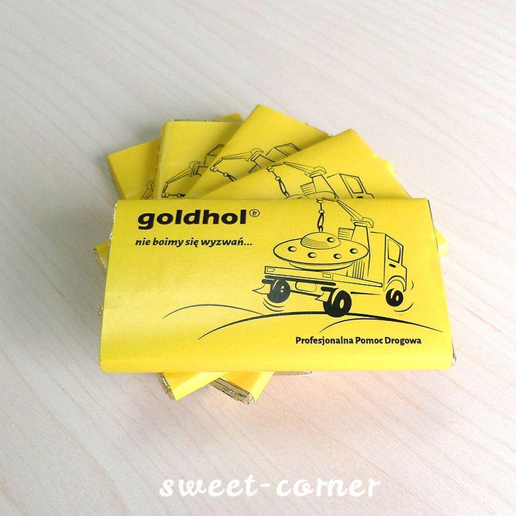 Czekolady reklamowe dla Goldhol | Realizacje Sweet Corner