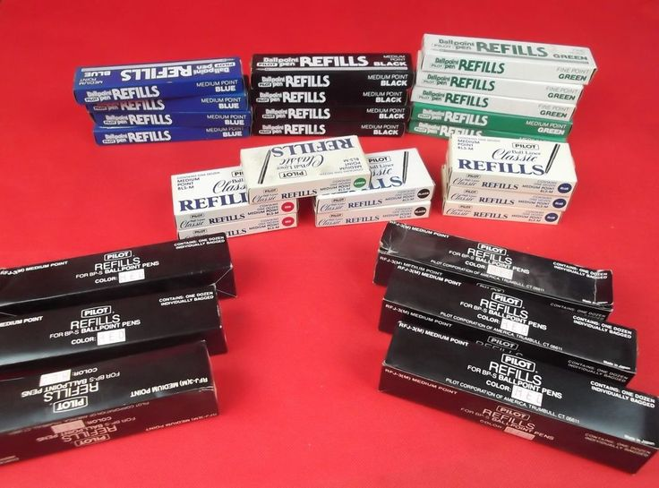 Large Lot of 324 Vintage Pilot Pen Refills - All New Old Stock #Pilot