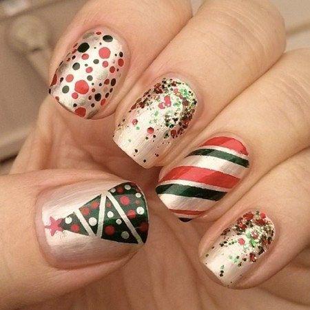 6 Diseños de uñas navideñas