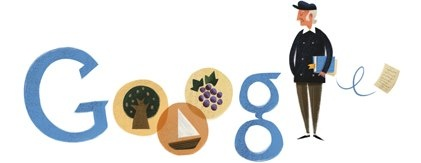 Google honours Odysseas Elytis birth's 101 anniversary. Elytis was a greek poet awarded with the Nobel Prize in Literature in 1979.