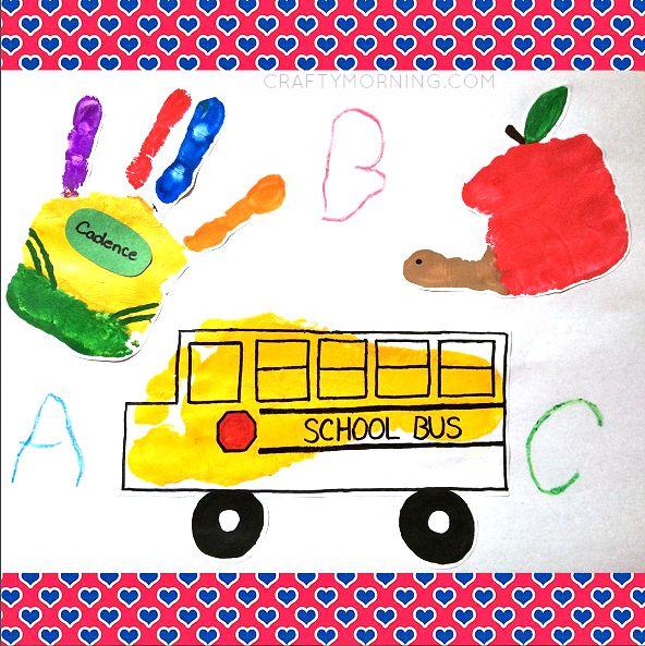 Back to School Handprint Kids Crafts - Crafty Morning