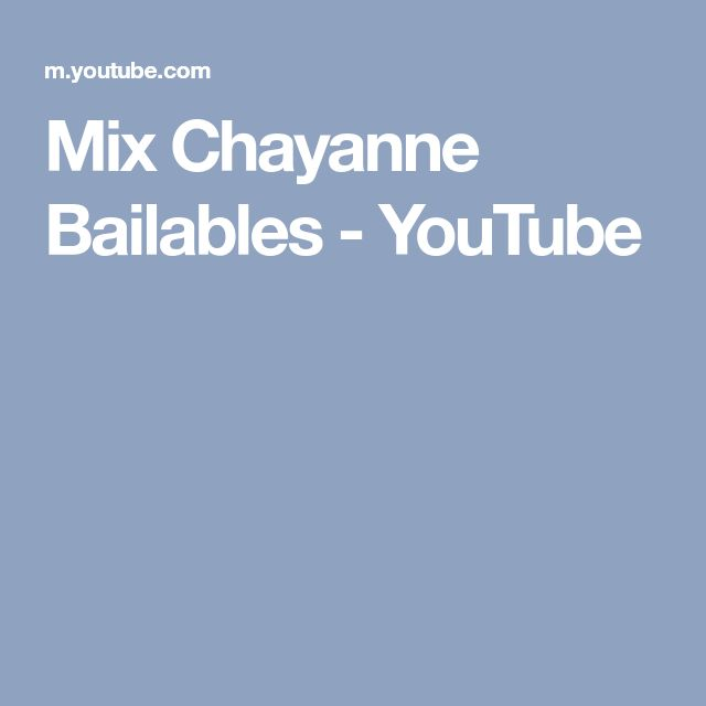Mix Chayanne Bailables - YouTube